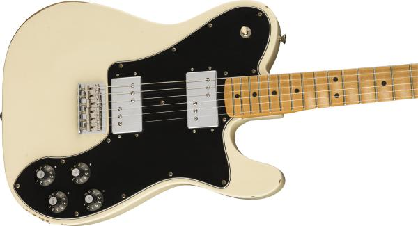 Guitare électrique solid body Fender Road Worn '70s Telecaster Deluxe (MEX, MN) - olympic white
