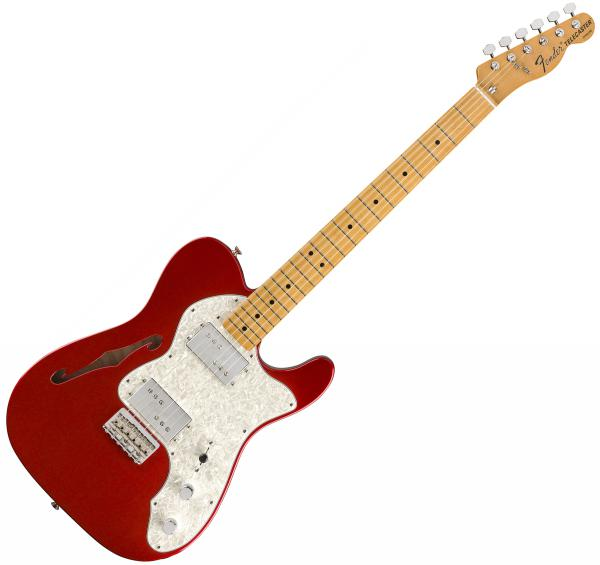 Guitare électrique solid body Fender Vintera 70's Telecaster Thinline (MEX, MN) - candy apple red