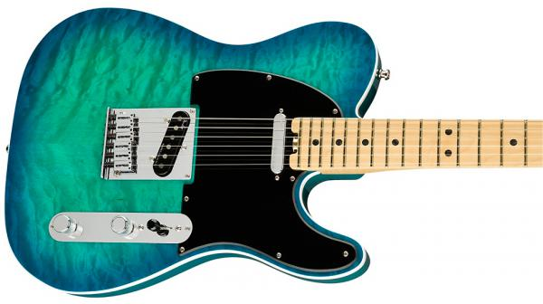 Guitare électrique solid body Fender American Elite Telecaster QMT (USA, MN) - aqua marine metallic