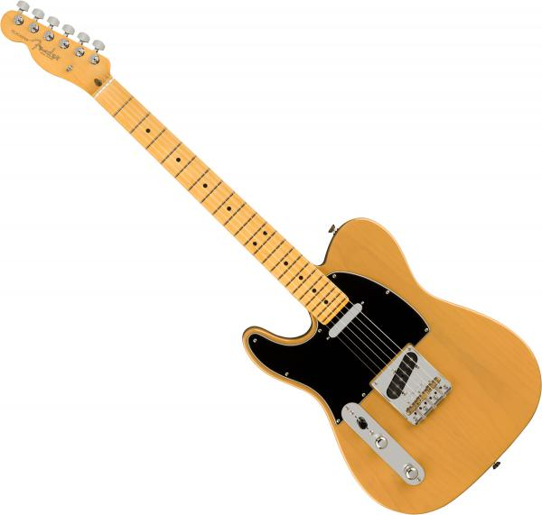 Guitare électrique solid body Fender American Professional II Telecaster Gaucher (USA, MN) - Butterscotch blonde