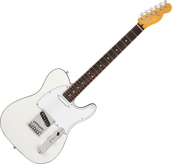 Guitare électrique solid body Fender American Ultra Telecaster (USA, RW) - arctic pearl