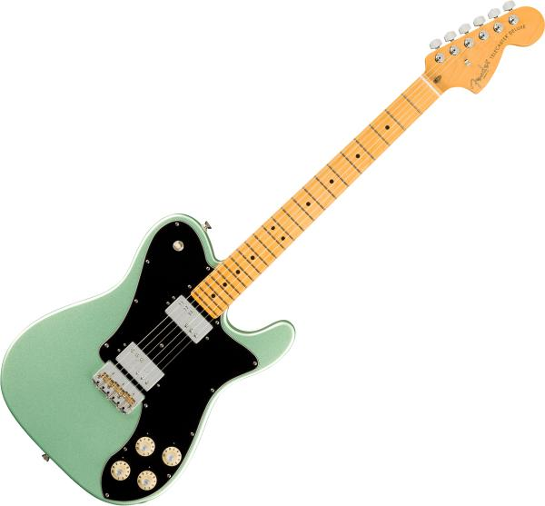 Guitare électrique solid body Fender American Professional II Telecaster Deluxe (USA, MN) - Mystic surf green