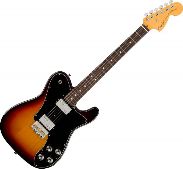 Guitare électrique solid body Fender American Professional II Telecaster Deluxe (USA, RW) - 3-color sunburst