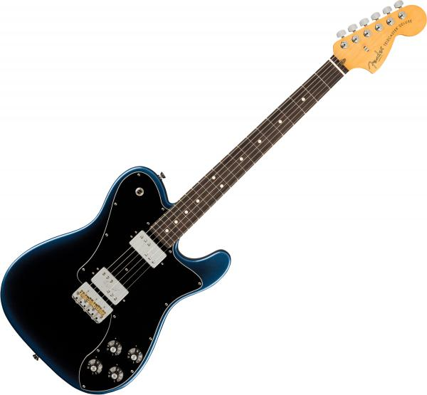 Guitare électrique solid body Fender American Professional II Telecaster Deluxe (USA, RW) - Dark night