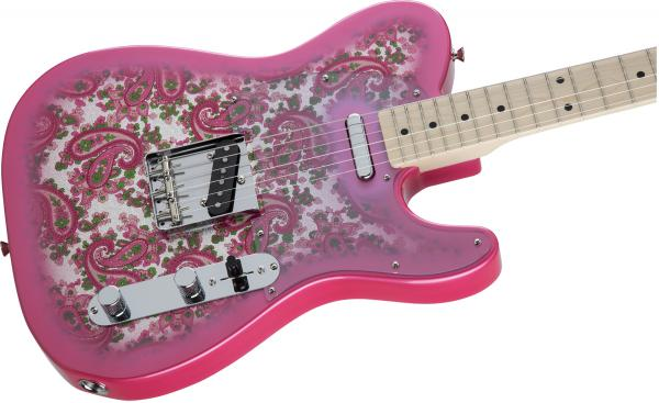 Guitare électrique solid body Fender Traditional '69 Telecaster Japan (MN) - pink paisley