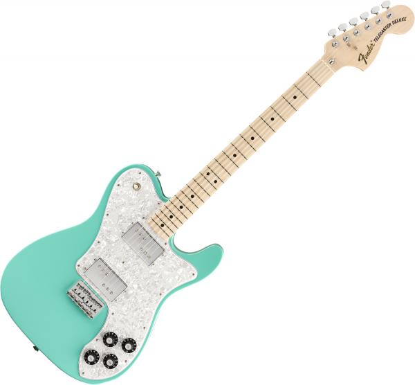 Guitare électrique solid body Fender MIJ Traditional '70s Telecaster Deluxe (Japan, MN) - Seafoam green