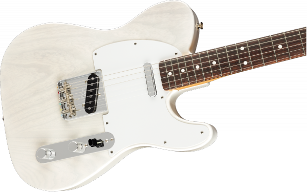 Guitare électrique solid body Fender Telecaster Mirror Jimmy Page US RW - white blonde
