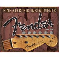 Plaque & enseigne publicitaire Fender Merchandising - Tin Sign Stratocaster Headstock