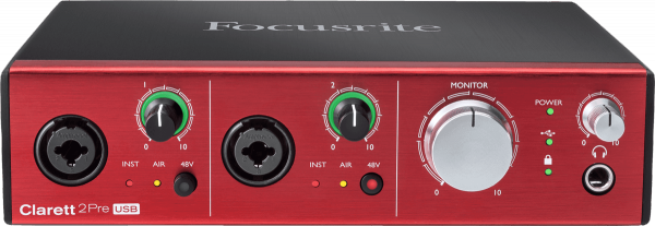 Interface audio usb Focusrite Clarett 2Pre USB