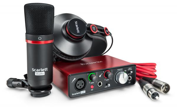 Pack home studio Focusrite Scarlett2 Solo Studio