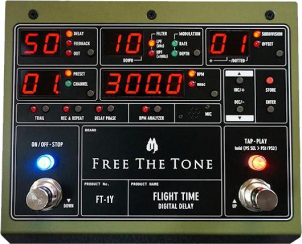Pédale reverb / delay / echo Free the tone Flight Time FT-1Y