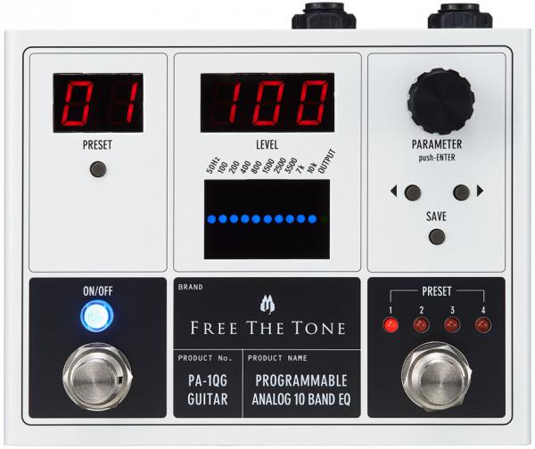Pédale eq. / enhancer / buffer Free the tone PA-1QG Programmable Analog 10 Band EQ