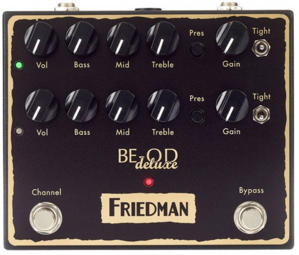 Pédale overdrive / distortion / fuzz Friedman amplification BE-OD Deluxe Overdrive
