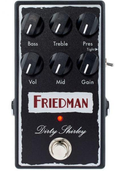 Pédale overdrive / distortion / fuzz Friedman amplification Dirty Shirley Overdrive Pedal