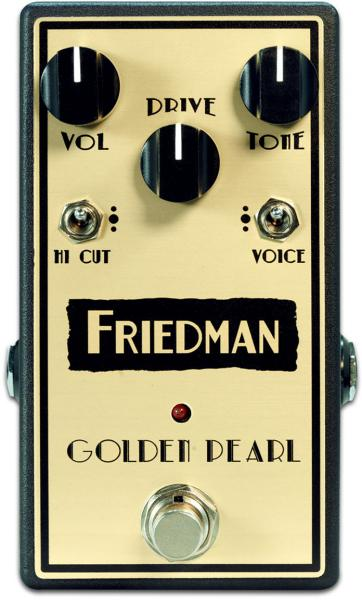Pédale overdrive / distortion / fuzz Friedman amplification Golden Pearl Overdrive