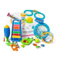 Set percussion enfants Fuzeau Malle Meli-Melo 16 Instruments