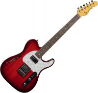 Guitare électrique hollow body G&l Tribute ASAT Classic Bluesboy Semi-Hollow - Red burst