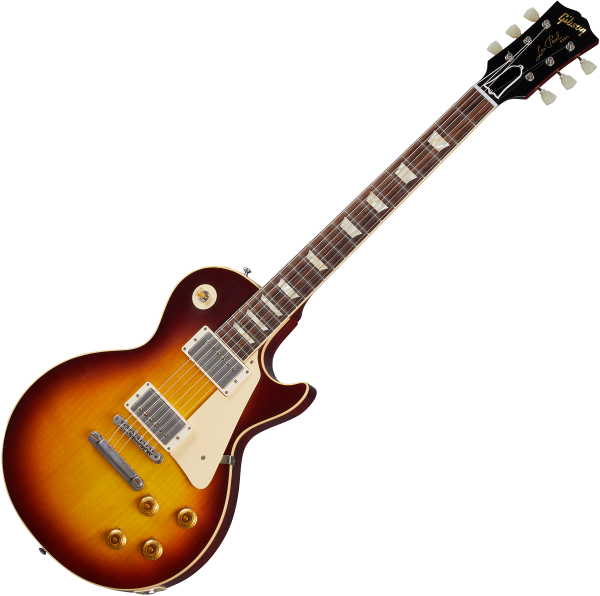 Guitare électrique solid body Gibson Custom Shop Murphy Lab 1958 Les Paul Standard Reissue - Ultra light aged bourbon burst