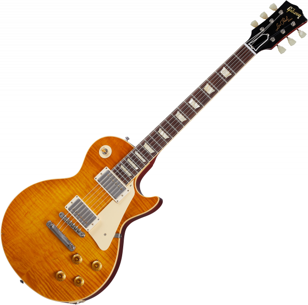 Guitare électrique solid body Gibson Custom Shop Murphy Lab 1959 Les Paul Standard Reissue - Light aged dirty lemon