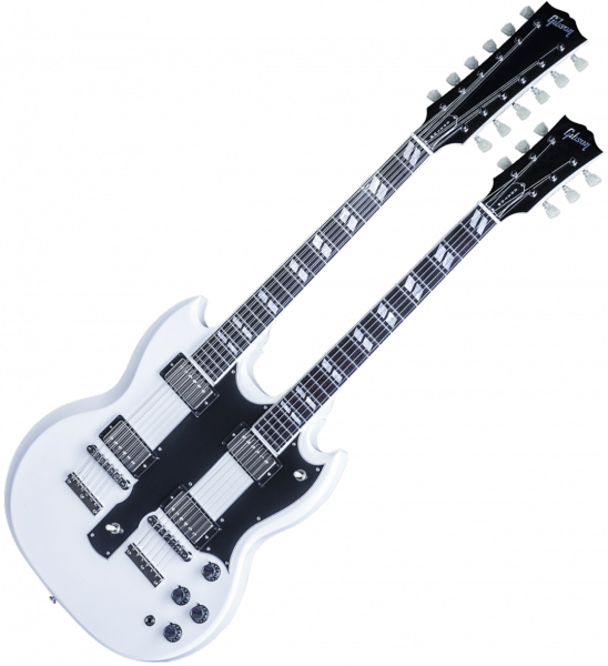 Guitare électrique double manches Gibson Custom Shop EDS-1275 Doubleneck - Alpine white