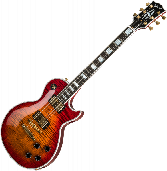 Guitare électrique solid body Gibson Custom Shop Les Paul Axcess Custom Figured Top 2019 - Gloss bengal burst