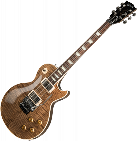 Guitare électrique solid body Gibson Custom Shop Les Paul Axcess Standard Figured Floyd Rose 2019 - Gloss dc rust