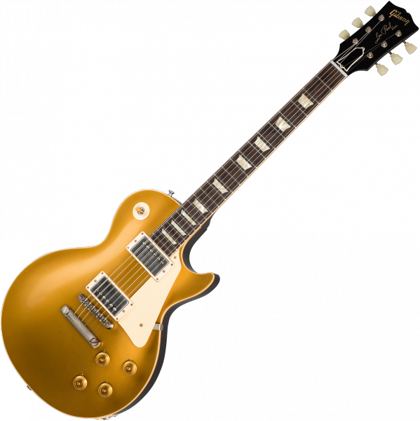 Guitare électrique solid body Gibson Custom Shop 1957 Les Paul Goldtop Reissue 2019 - Vos double gold with dark back