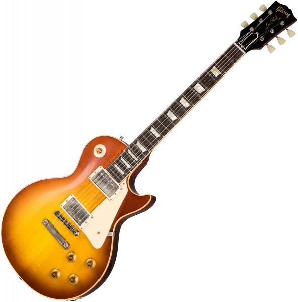 Guitare électrique solid body Gibson Custom Shop 1958 Les Paul Standard Reissue 2019 - vos iced tea burst