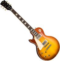 Guitare électrique solid body Gibson Custom Shop 1958 Les Paul Standard Reissue 2019 Gaucher - Vos royal teaburst