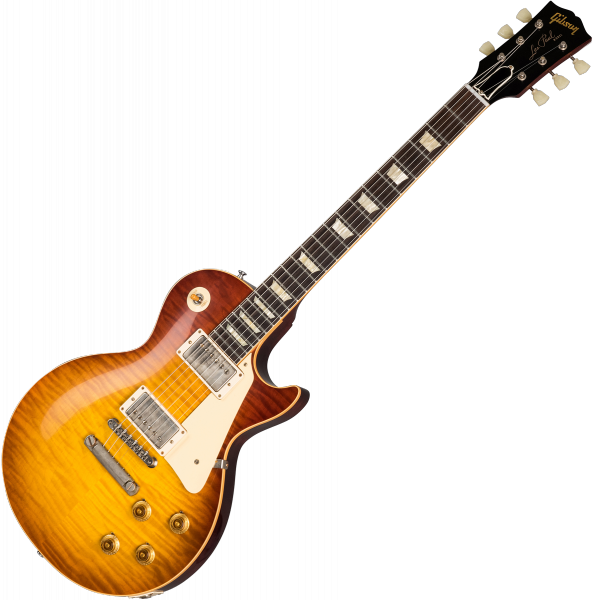 Guitare électrique solid body Gibson Custom Shop 60th Anniversary 1959 Les Paul Standard (Bolivian RW) - Vos orange sunset fade
