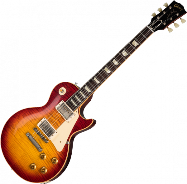 Guitare électrique solid body Gibson Custom Shop 60th Anniversary 1959 Les Paul Standard (Bolivian RW) - Vos factory burst