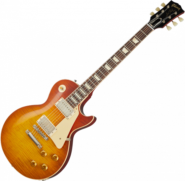 Guitare électrique solid body Gibson Custom Shop 60th Anniversary 1960 Les Paul Standard V1 - Vos antiquity burst