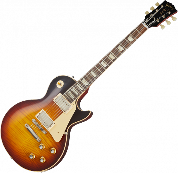 Guitare électrique solid body Gibson Custom Shop 60th Anniversary 1960 Les Paul Standard V3 - Vos washed bourbon burst