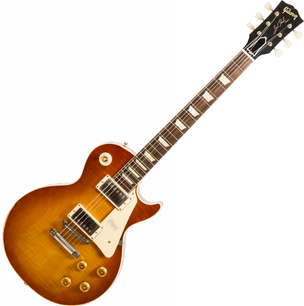Guitare électrique solid body Gibson Custom Shop M2M 1958 Les Paul Standard #891117 - lightly aged iced tea