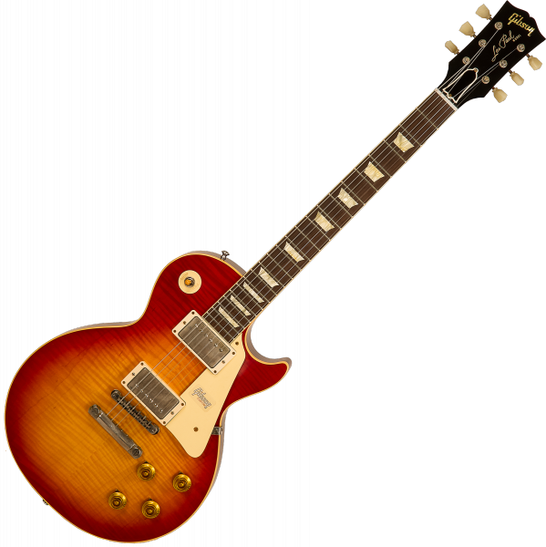 Guitare électrique solid body Gibson Custom Shop M2M 60th Anniversary 1959 Les Paul Standard #991818 - VOS Sunrise Teaburst