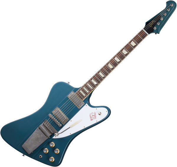 Guitare électrique solid body Gibson Custom Shop Murphy Lab 1963 Firebird V With Maestro Vibrola - Ultra light aged pelham blue