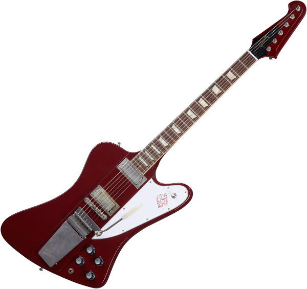 Guitare électrique solid body Gibson Custom Shop Murphy Lab 1963 Firebird V With Maestro Vibrola - Ultra light aged ember red
