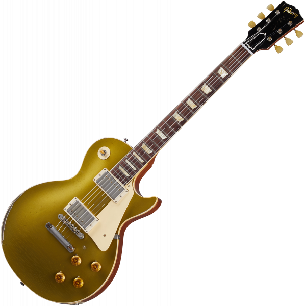 Guitare électrique solid body Gibson Custom Shop Murphy Lab 1957 Les Paul Goldtop Reissue - Ultra heavy aged double gold