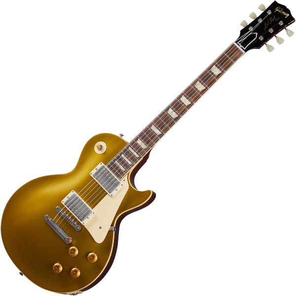Guitare électrique solid body Gibson Custom Shop Murphy Lab 1957 Les Paul Goldtop Reissue - Light aged double gold with dark back
