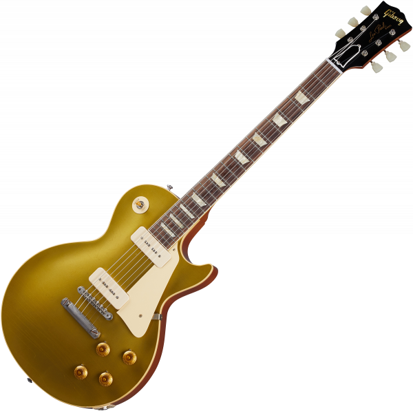 Guitare électrique solid body Gibson Custom Shop Murphy Lab 1956 Les Paul Goldtop Reissue - Ultra light aged double gold