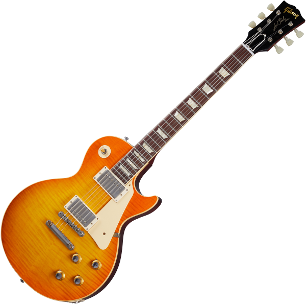 Guitare électrique solid body Gibson Custom Shop Murphy Lab 1960 Les Paul Standard Reissue - Ultra light aged orange lemon fade burst