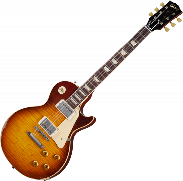 Guitare électrique solid body Gibson Custom Shop Murphy Lab 1959 Les Paul Standard Reissue - Heavy aged slow iced tea fade