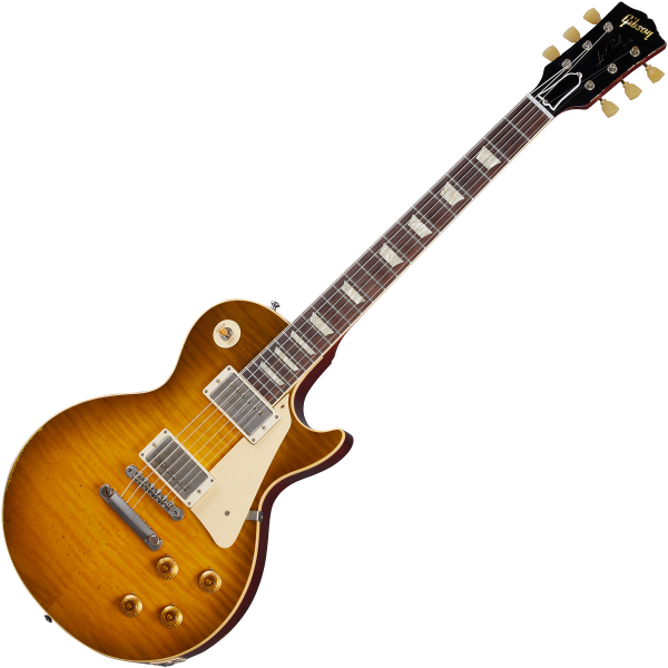 Guitare électrique solid body Gibson Custom Shop Murphy Lab 1959 Les Paul Standard Reissue - Heavy aged golden poppy burst