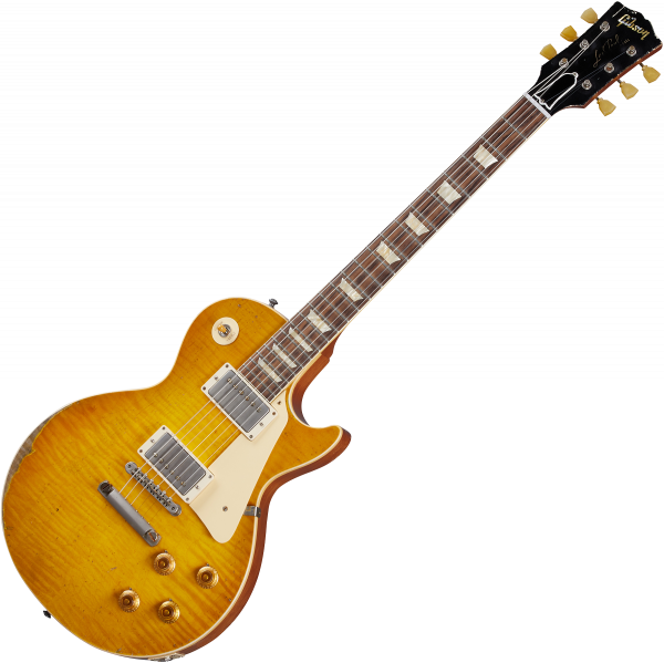 Guitare électrique solid body Gibson Custom Shop Murphy Lab 1959 Les Paul Standard Reissue - Ultra heavy aged lemon burst