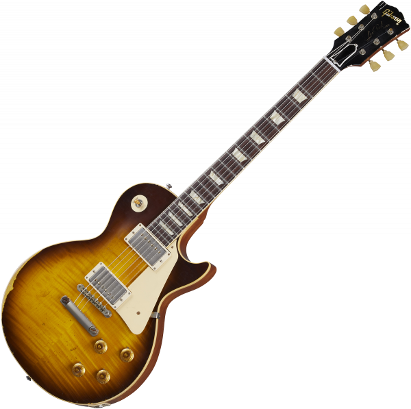 Guitare électrique solid body Gibson Custom Shop Murphy Lab 1959 Les Paul Standard Reissue - Ultra heavy aged kindred burst