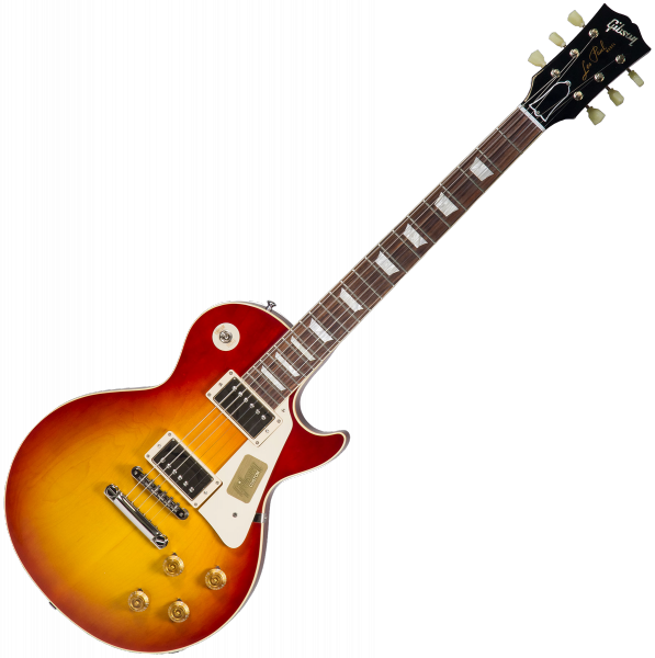 Guitare électrique solid body Gibson Custom Shop Standard Historic 1958 Les Paul Standard #R861099 - Gloss washed cherry