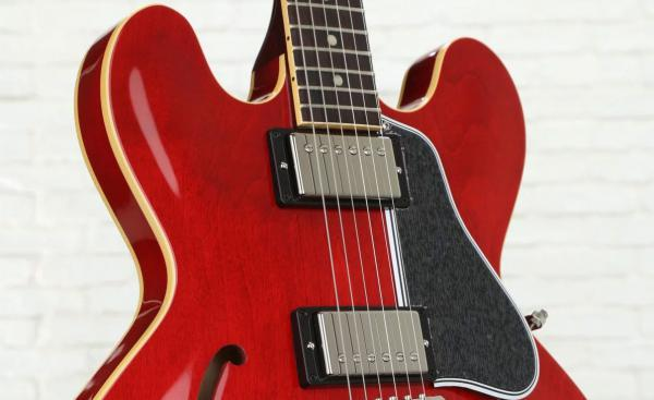 Guitare électrique 1/2 caisse Gibson 1961 ES-335 Historic Kalamazoo 2019 - gloss sixties cherry