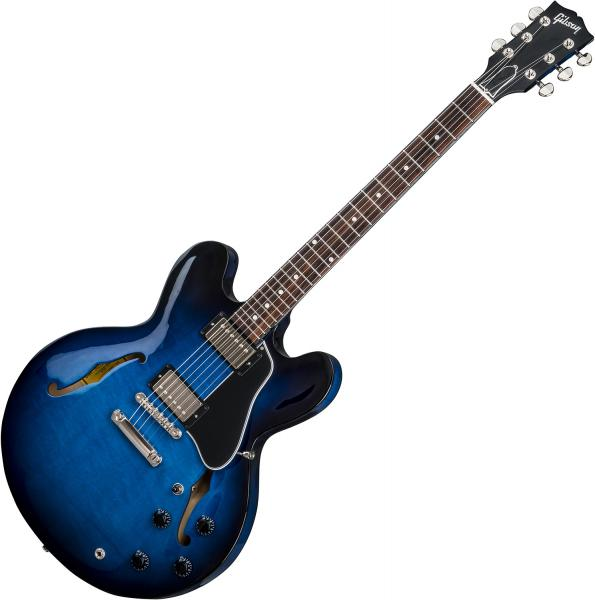Guitare électrique 1/2 caisse Gibson ES-335 DOT 2018 - blues burst