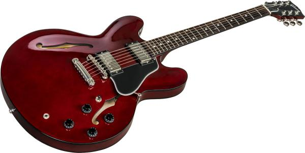 Guitare électrique hollow body Gibson ES-335 DOT 2018 - wine red