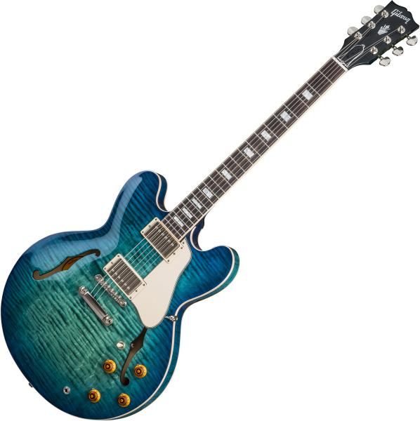 Guitare électrique 1/2 caisse Gibson ES-335 Figured 2018 - aquamarine